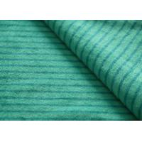 Eco - Friendly Printted Striped Minky Fabric Flame Retardant Farland Manufactures