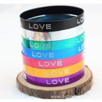 LOVE Words Multi Color Bracelet Wide Aluminium Metal Bangles Manufactures