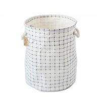 China Foldable cotton Linen Washing Clothes Laundry Basket Sorter Bag Hamper wholesale