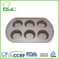 Non-Stick Carbon Steel 6 Cups Muffin Tray Manufactures