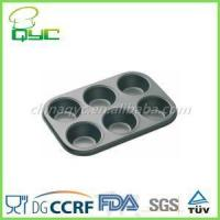 6 cup muffin pan Non-Stick Carbon Steel 6 Cups Muffin Pan Manufactures