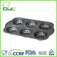 Non-Stick Carbon Steel 6 Hole Flower Shape Muffin Baking Tin