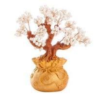 Stunning Feng Shui Artificial White Pearl Bonsai Money Tree Manufactures