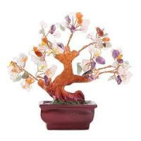 Stunning Feng Shui Mix Gemstone Quartz Bonsai Money Tree Manufactures