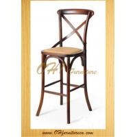 Buy cheap Hot Sale Wood Cross Back Bar Stool High Chair and High Back Chair from wholesalers