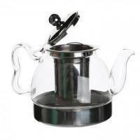 Buy cheap Eco-friendly Glass Teapot With Stainless Steel Infuser from wholesalers