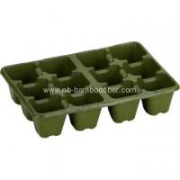12 Hole high foot bamboo fiber seedling pots FOB for sale