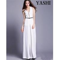 European High Quality V-Neck Sexy Wide Leg Jumpsuit Manufactures