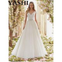Beaded Embroidery Organza Bridal Wedding Dresses 6836 Manufactures