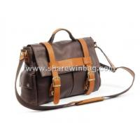 China top-grain cowhide leather messenger bag on sale