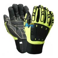 China BGAV004-Hi-Vis Cut 5 Impact Resistant And Anti-Vibration Gloves on sale