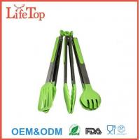Silicone and Stainless Steel Flipper Tongs Salad Tong Food Tong Manufactures