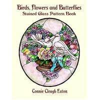 Birds, Flowers, and Butterflies Stained Glass Pattern Book Manufactures