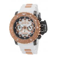 Buy cheap Men's Watches Men's Sea Hunter Chrono White Silicone & Dial Rose-Tone 18K GP SS Bzl from wholesalers