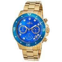Buy cheap Men's Watches Men's Pro Diver Chrono 18K Gold Plated SS Blue Dial & Bezel from wholesalers