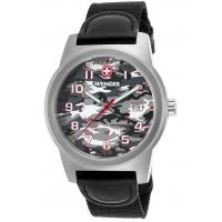Men's Watches Men's Field Color Black Nylon and Genuine Leather Camo Dial