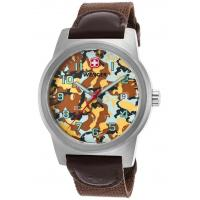 Men's Watches Men's Field Color Brown Nylon and Genuine Leather Camo Dial Manufactures