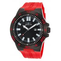 Men's Watches Men's Pro Diver Red Polyurethane Black Dial Manufactures