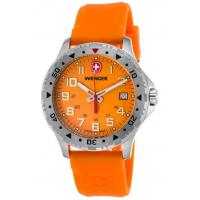 Men's Watches Men's Off Road Orange Silicone and Dial Stainless Steel Manufactures