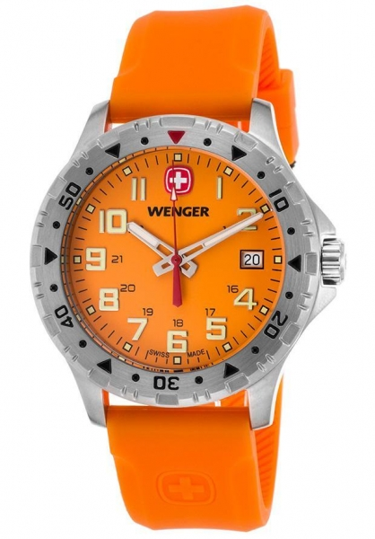Quality Men's Watches Men's Off Road Orange Silicone and Dial Stainless Steel for sale