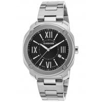 Men's Watches Men's Edge Romans Stainless Steel Black Dial Manufactures