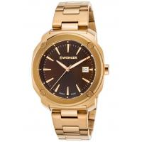 Men's Watches Men's Edge Index Gold-Tone Stainless Steel Brown Dial