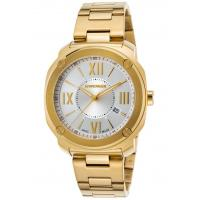 Men's Watches Men's Edge Romans Gold-Tone Stainless Steel Silver-Tone Dial Manufactures