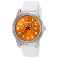 Men's Watches Men's Field Color White Silicone Orange Dial Stainless Steel Manufactures