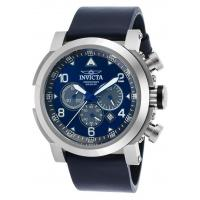 Men's Watches Men's I-Force Chronograph Navy Blue Genuine Leather Blue Dial Manufactures