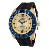 Buy cheap Men's Watches Men's Aviator Automatic Black Silicone Gold-Tone Dial 18K GP SS from wholesalers