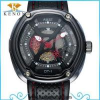 Buy cheap AMST brand AM3019 stainless steel leather wrist watch for men from wholesalers