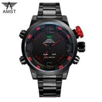 Buy cheap 2017 hot selling AMST fashion 3ATM waterproof stainless steel wrist watch from wholesalers