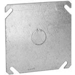 """Quality Hubbell-Raco 753 4"""" Square Cover, Flat, 1/2"""" Knockout in Center for sale"""