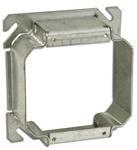 """Quality Appleton 847-125 4"""" Square Cover, 2-Device, Mud Ring, 1-1/4"""" Raised, Drawn, Metallic for sale"""