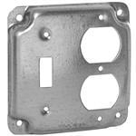 """Quality Hubbell-Raco 906C 4"""" Square Exposed Work Cover, (1) Duplex Receptacle for sale"""