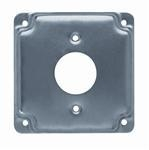 "Quality Hubbell-Raco 801C 4"" Square Exposed Work Cover, (1) Single Receptacle for sale"