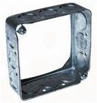 """Quality Hubbell-Raco 201 4"""" Square Extension Ring, 1-1/2"""" Deep, Drawn, Metallic for sale"""