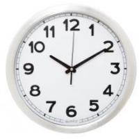 12 Inch Metal Wall Clock With No. Printed on Glass Manufactures