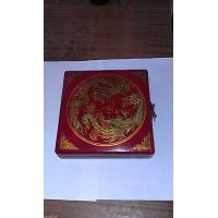 Chinese tibet charm rare dragon phoenix ''Feng shui''compass with wooden box