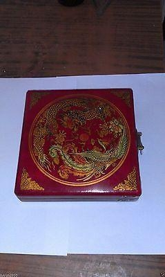 Quality Chinese tibet charm rare dragon phoenix ''Feng shui''compass with wooden box for sale