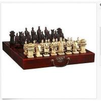 Chinese 32 pieces chess set/box/Xian Terracota Warrior Manufactures