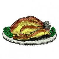 Cooked Turkey Dinner Embroidery Design Manufactures