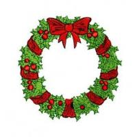 Christmas Wreath Embroidery Design Manufactures