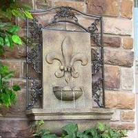 China Sunnydaze French Lily Outdoor Wall Fountain -Florentine Stone on sale