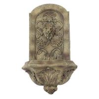China Sunnydaze Decorative Lion Wall Fountain -Florentine Stone on sale