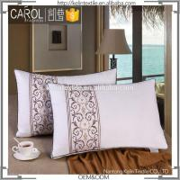China T233 Down Proof Decorative Fabric 100% Goose Down Hotel Pillow wholesale