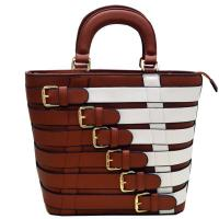 Belt Fashion Bag Brown and White Model: PS1033(BRWT) Manufactures