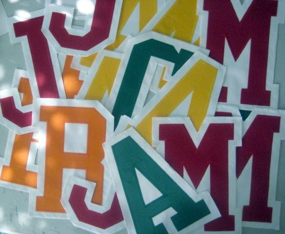 Quality APPLIQUE TWILL LETTERINGS for sale