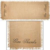 """36"""" Give Thanks Burlap Runner (13x36"""") Manufactures"""