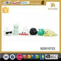 Baby favorite Cute Floating Light-up sea animal plastic Bath Toys Set of 6